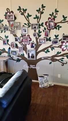My family tree I painted across one of my walls in the living room.
