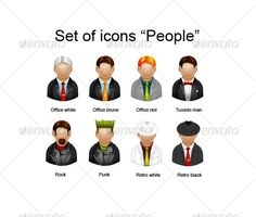 Set of icons — Layered PSD #web #jacket • Available here → https://graphicriver.net/item/set-of-icons-/90089?ref=pxcr