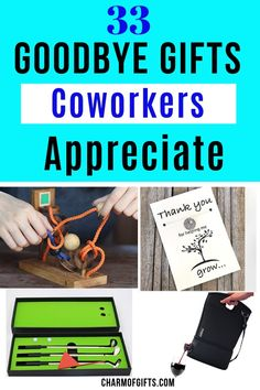 37 Memorable, thoughtful and surprisingly useful farewell gift ideas coworker would actually love. Going away gifts perfect for coworkers and even your boss Gift For Coworker Leaving, Farewell Gift For Coworker, Leaving Gifts, Coworker Gift Ideas, Coworker Thank You Gift, Retirement Gifts For Men, Gifts For Boss, Gifts For Mum, Goodbye Coworker