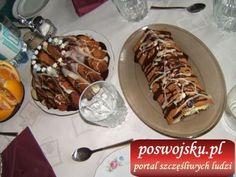 Tradycyjne tradycyjne wypieki: baba z lukrem i kopiec staropolski