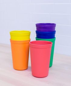 Made in the USA from Recycled BPA-Free, FDA Approved Plastic. Re-Play 10 oz Drinking Cup Sets are available in 4 vibrant colorways. Crayon Box, Cup With Straw, Outdoor Parties, Replay, Mugs Set, Drinking, Recycling, Tableware, Easy Storage