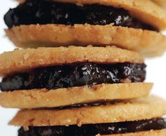 Blueberry Jam Sandwich Cookies Recipe at Epicurious.com