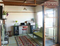 ディアウォール DIY Japan Interior, Cafe Interior, Apartment Interior, Small Space Interior Design, Shop Interior Design, House Design, Japanese Apartment, Japanese Style House, Workspace Design