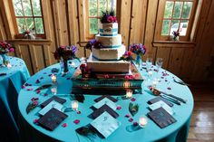 A colorful Spring Brides cake @ Sage Hall.