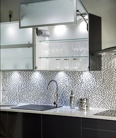 Anthro - modern - kitchen cabinets - other metro - Hans Krug Fine European Cabinetry Aluminum Kitchen Cabinets, Aluminium Kitchen, Kitchen Cabinet Drawers, Modern Kitchen Cabinets, Glass Kitchen, Cabinet Doors, Glass Cabinets, Wall Cabinets, New Kitchen Designs