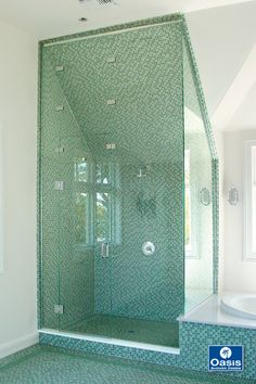 Custom Frameless Shower Door for steam unit. 3 transoms operable, 2 fixed). Frameless Shower Enclosures, Frameless Shower Doors, Master Bath, Clear Glass, Choices, Spa, Pure Products, Home Decor, Master Bathroom