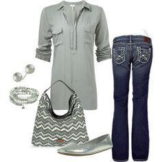 A fashion look from January 2013 featuring Splendid blouses, BKE jeans and Envy flats. Browse and shop related looks.