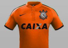 """Terceiro uniforme 15/16. Homenagem ao nosso """"terrao"""",  presente de 105 anos para o Corinthians (1910-2015)"""