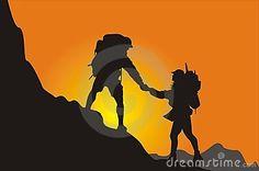 Mountain Climbing Canvasser Royalty Free Stock Photos - Image: 7487668