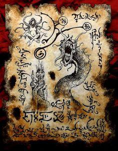 THE DEVOURER cthulhu larp Necronomicon Fragment occult by zarono, $10.00