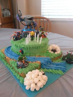 Skylanders cake I made for my son's birthday
