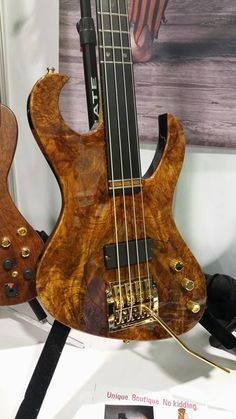 Kahler Guitar and Bass Bridges Beautiful semi-fretless bass with a Kahler built by John Brown's Guitar Factory! John Payne (Asia) plays one of these.