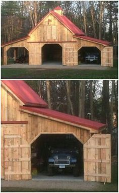 Garage for the cars, riding lawnmower, and the boy toys like four wheelers