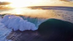 The rise in drones hovering above our lineups is changing surf cinematography. Sick shot of Pipeline