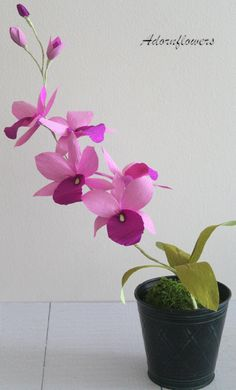 Paper Orchid-Paper flowerscattleya orchid by adornflowers on Etsy
