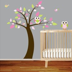 Owl nursery decal