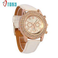 OTOKY watches Women rhinestone quartz watch reloj mujer Fashion Crystal Leather Bracelet watch Women Dress Wristwatch Gift 1pc #Affiliate