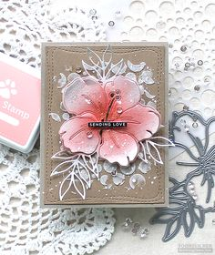 SSS Large Floral Dies | RejoicingCrafts Card Making Inspiration, Making Ideas, Inspiration Cards, Style Tropical, Love Stamps, Fun Fold Cards, Different Flowers, Simon Says Stamp, Card Maker