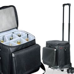 @Christie Dowdy....LOOK!!! Now nothing can hold us back...have wine, can travel! Insulated 6 bottle Wine Trolley