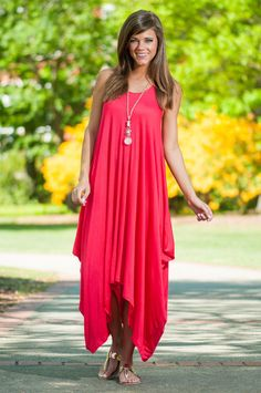 Say A Little Layer For You Maxi Dress, Coral