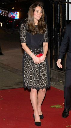 It's hard to go wrong with an LBD! Duchess Kate looked lovely in a Temperly lace black dress at the SportsAid SportsBall event on Nov. 28, 2013.
