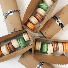 Custom Wedding and celebration cakes, cupcakes, cookies + French Macarons. Focused on flavor and modern design. Macaroon Box, Macaron Packaging, Coffee Stock, Home Bakery, Sugar Baby, Aesthetic Food, Food Gifts, Celebration Cakes, Party Cakes