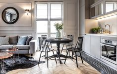 ApartmentHome - A small open dining room in the kitchen, eclectic style Loft Interior Design, Living Comedor, Loft Interiors, Classic Interior, Small Living Rooms, Apartment Design, Small Apartments, Sweet Home, House Design