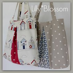 PDF Pleated Tote Bag sewing pattern от LillyBlossom на Etsy