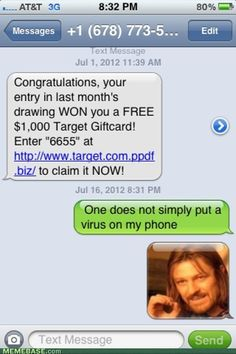 internet memes - One Does Not Simply Fall for That Trap