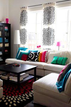 Canlı Renk Düzeni İle Oturma Odası Fikirleri