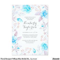 Floral Bouquet Tiffany Blue Bridal Shower
