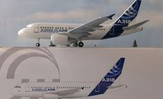 EADS Airbus A318 Hogan Wings Limox 1:200 & Herpa Wings Katalog Flugzeugmodell **