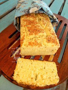 Esse pão sem gluten fica fofinho e muito saboroso.