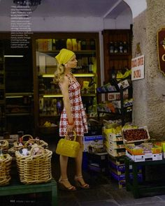 "The Terrier and Lobster: ""Sea & Be Seen"": Clémence Poesy in Portofino by Carlyne Cerf de Dudzeele for US InStyle"