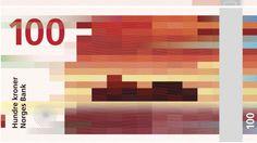 Design of Norwegian money. Very nice color palette!