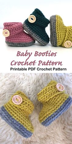 19 Baby Booties Crochet Patterns – Adorable Baby Gifts Looking for a cute baby gift? Try these Baby Booties Crochet Patterns. They will make an adorable presents. There are many different styles Booties Crochet, Crochet Baby Shoes, Crochet Baby Clothes Boy, Crochet Baby Sweaters, Crochet Pattern Free, Easy Crochet, Knit Crochet, Crochet Baby Cardigan Free Pattern, Baby Booties Knitting Pattern