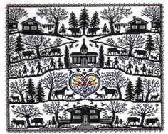 Silhouette Collage - cross stitch kit by Eva Rosenstand Cross Stitch Samplers, Counted Cross Stitch Kits, Cross Stitching, Blackwork Embroidery, Cross Stitch Embroidery, Embroidery Patterns, Cross Stitch Designs, Cross Stitch Patterns, Cross Stitch Finishing