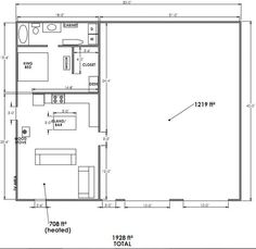 Image Result For Metal With Apartment Plans Floor Garage