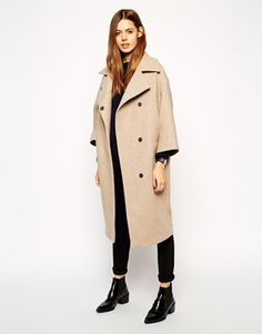 Enlarge ASOS Coat In Cocoon Fit With Kimono Sleeve