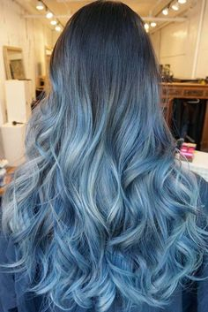 Thinking about going for blue ombre hair? Ombre hair is totally in right now and ombre in blue is no exception. Bluish hair can be subtle or dramatic, with some semblance to fairy or mermaid style hair.