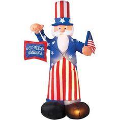 Uncle Sam Airblown Prop, Blue