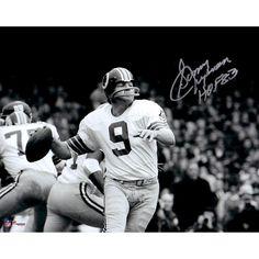 """Sonny Jurgensen Washington Redskins Fanatics Authentic Autographed 8'' x 10'' Black & White Photograph with """"HOF"""" Inscription"""