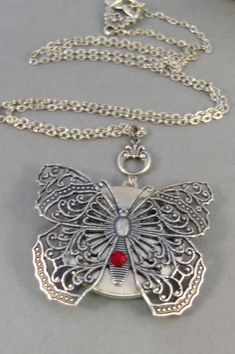 stainless pendant butterfly lockets engravable steel