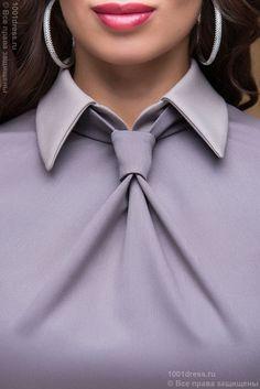 Купить платье-футляр цвета мокко с имитацией галстука недорого в интернет-магазине 1001DRESS