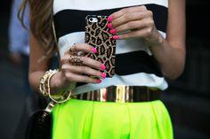 leopard, stripes, neon