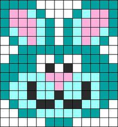 Bunny Wabbit Perler Bead Pattern / Bead Sprite