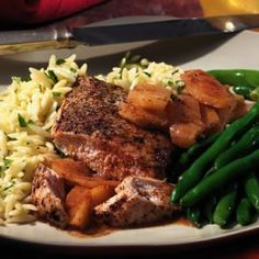 Chicken & Spiced Apples- healthy Mardi Gras recipe