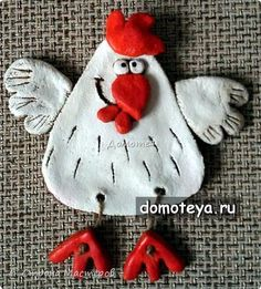 Newest Totally Free clay ornaments bird Ideas соль – Polymer Clay Ornaments, Polymer Clay Crafts, Salt Dough Crafts, Kids Clay, Pottery Animals, Clay Birds, Diy Ostern, Clay Animals, Pottery Studio