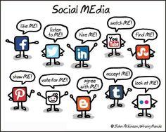 O que queremos dizer em cada rede social.