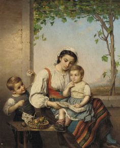 Young Italian Mother With Two Children